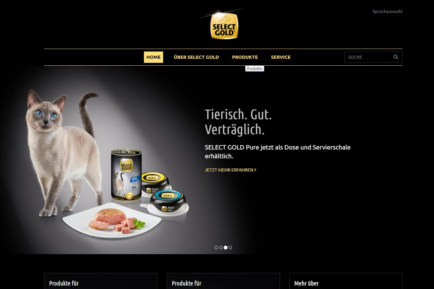 Fensterkatzen_Getestet_Select-Gold-Fressnapf_Screenschot-Homepage