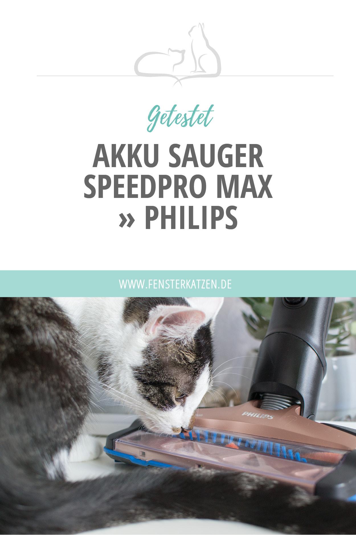Ich habe mir schon länger einen Akku Staubsauger gewünscht mit dem man einfach mal schnell das Streu um das Katzenklo herum aufsaugen kann, ohne immer den großen, schweren Staubsauger aus der Abstellkammer kramen und das Kabel ab- und wieder aufwickeln zu müssen. Dieser Traum ist nun endlich in Erfüllung gegangen, denn Philips hat uns einen SpeedPro Max (FC6826/01) und eine extra Turbodüse für Tierhaare zukommen lassen. Yay! :D