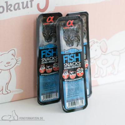 Fensterkatzen-Getestet-Goodie-Box-Zookauf-Shop-Alpha-Spirit-Fisch-Snacks