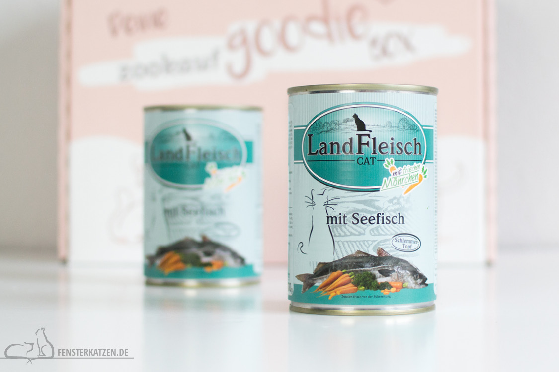 Fensterkatzen-Getestet-Goodie-Box-Zookauf-Shop-Nassfutter-LandFleisch-Seefisch