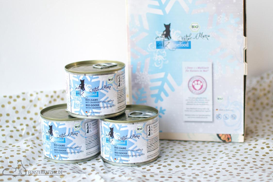 Fensterkatzen-Alltag-Tauschpaket-Blogkatzen-Catz-Finefood-Bio-Wintermenue