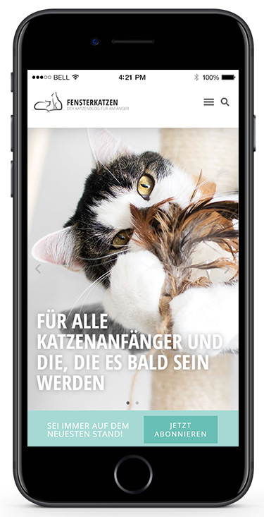 Fensterkatzen-Mockup-Smartphone-Startseite