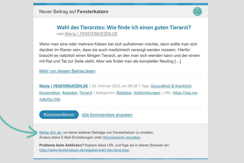 Fensterkatzen-WordPress-Mail-Neuer-Blogbeitrag