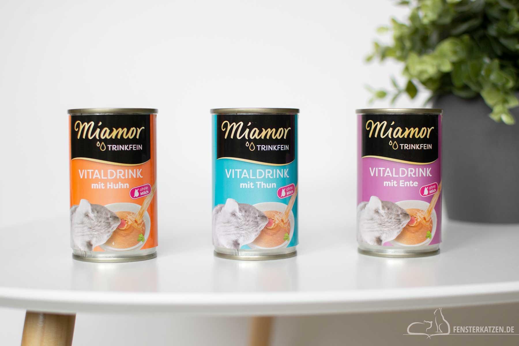 Fensterkatzen-Getestet-Trinkfein-Vitaldrink-Katze-Miamor-Sorten
