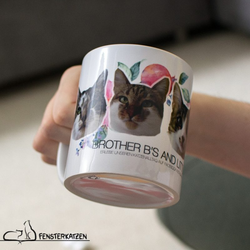 Fensterkatzen_Alltag_Tauschpaket-Brother-Bs-and-little-Eva_Tasse-Fanartikel